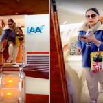 شاهد: أحلام تنشر فيديو من داخل طائرتها الخاصة لحظة وصولها السعودية.. وهذا أول من قابلته!