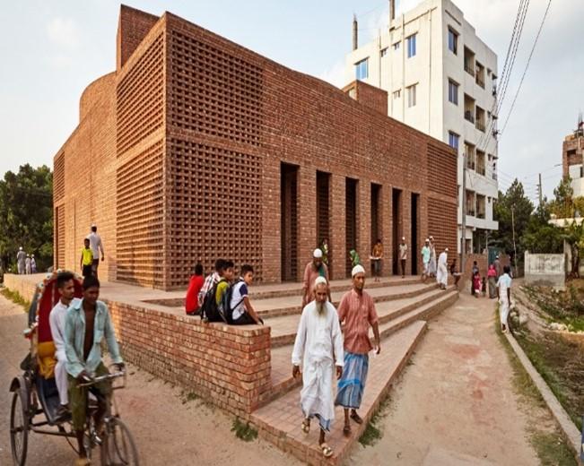مسجد بيت الرؤوف في دكا- بنغلاديش من تصميم المعمارية مارينا تبسم