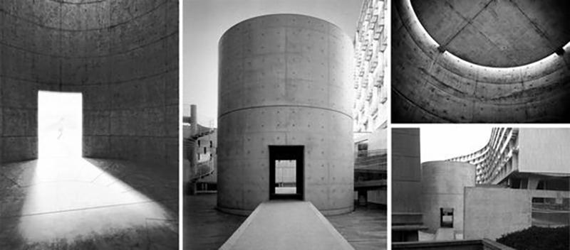 صور مختلفة لمساحة التأمل في فرنسا للمعماري تاداو أندو
