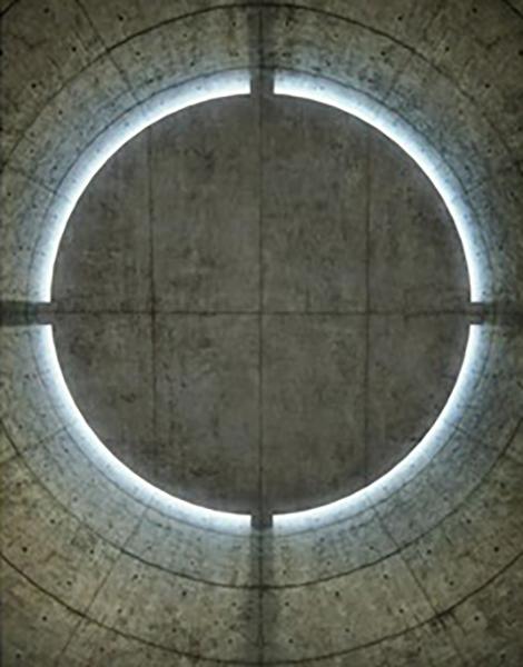السقف في التصميم الداخلي لمساحة التأمل في فرنسا للمعماري تاداو أندو