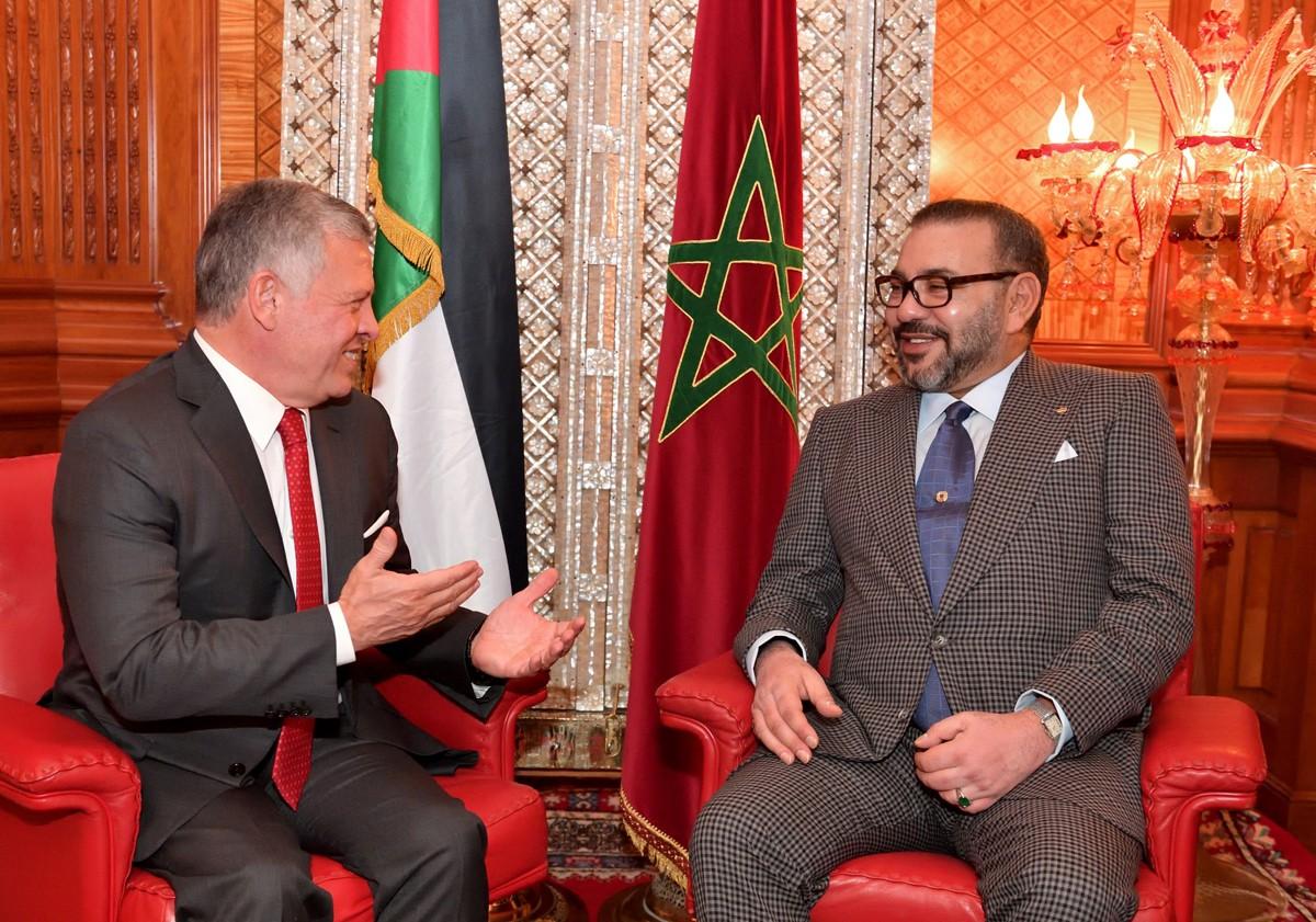 الملك المغربي رفقة ملك الأردن