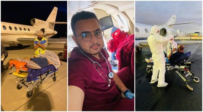 طبيب مغربي يمارس الإخلاء الطبي بأزيد من 100 دولة لإنقاذ مرضى كورونا