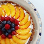 peach & berries fruit tart