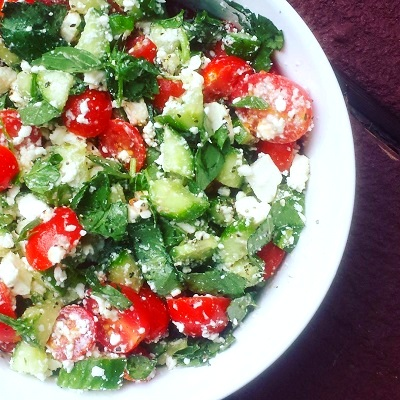 feta-cheese-basil-salad