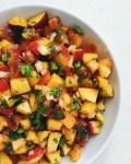 peach and poblano pepper salsa
