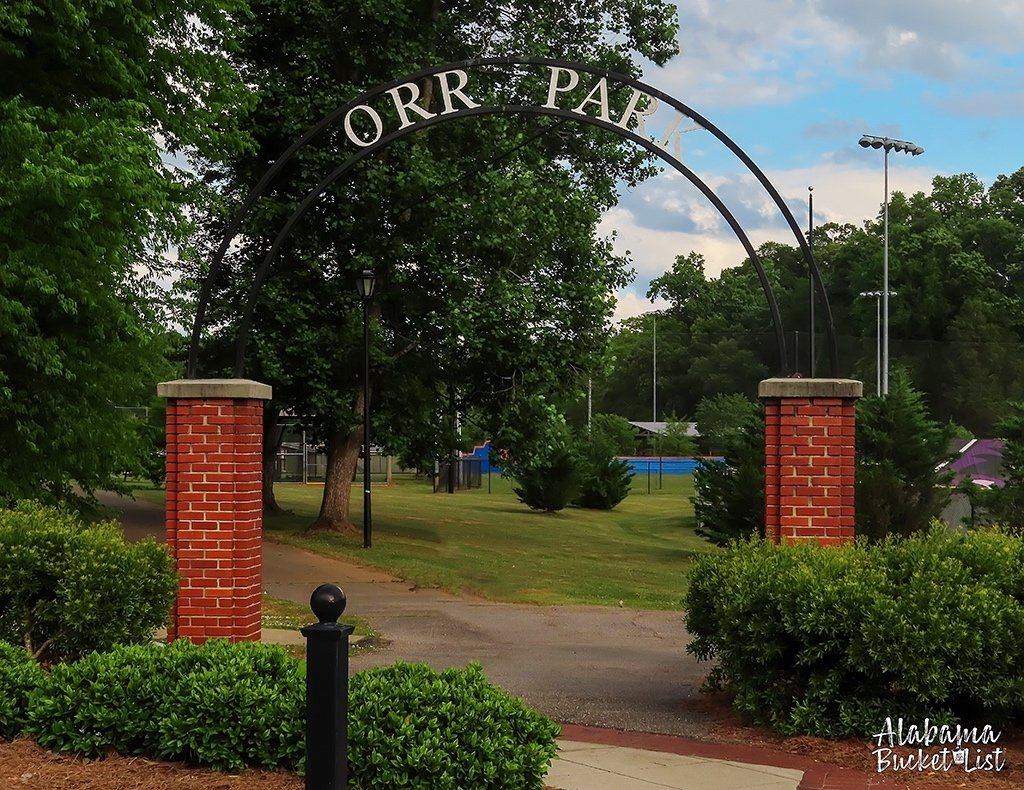 Although any time of year is great, in the fall around Halloween is the perfect time to visit Orr Park, home of the tree faces of Alabama! #parks #trees #birmingham #montevallo #alabama #outdoors #family #travel