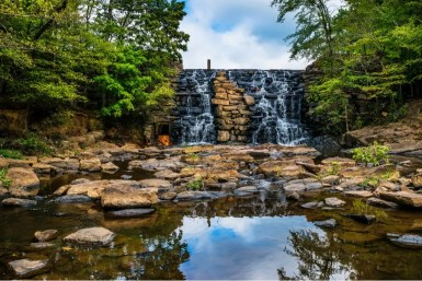 waterfall in Chewacla State Park in Alabama