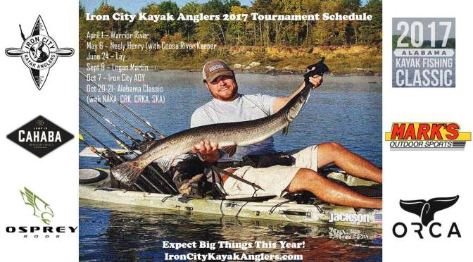 Birmingham kayak fishing club releases schedule