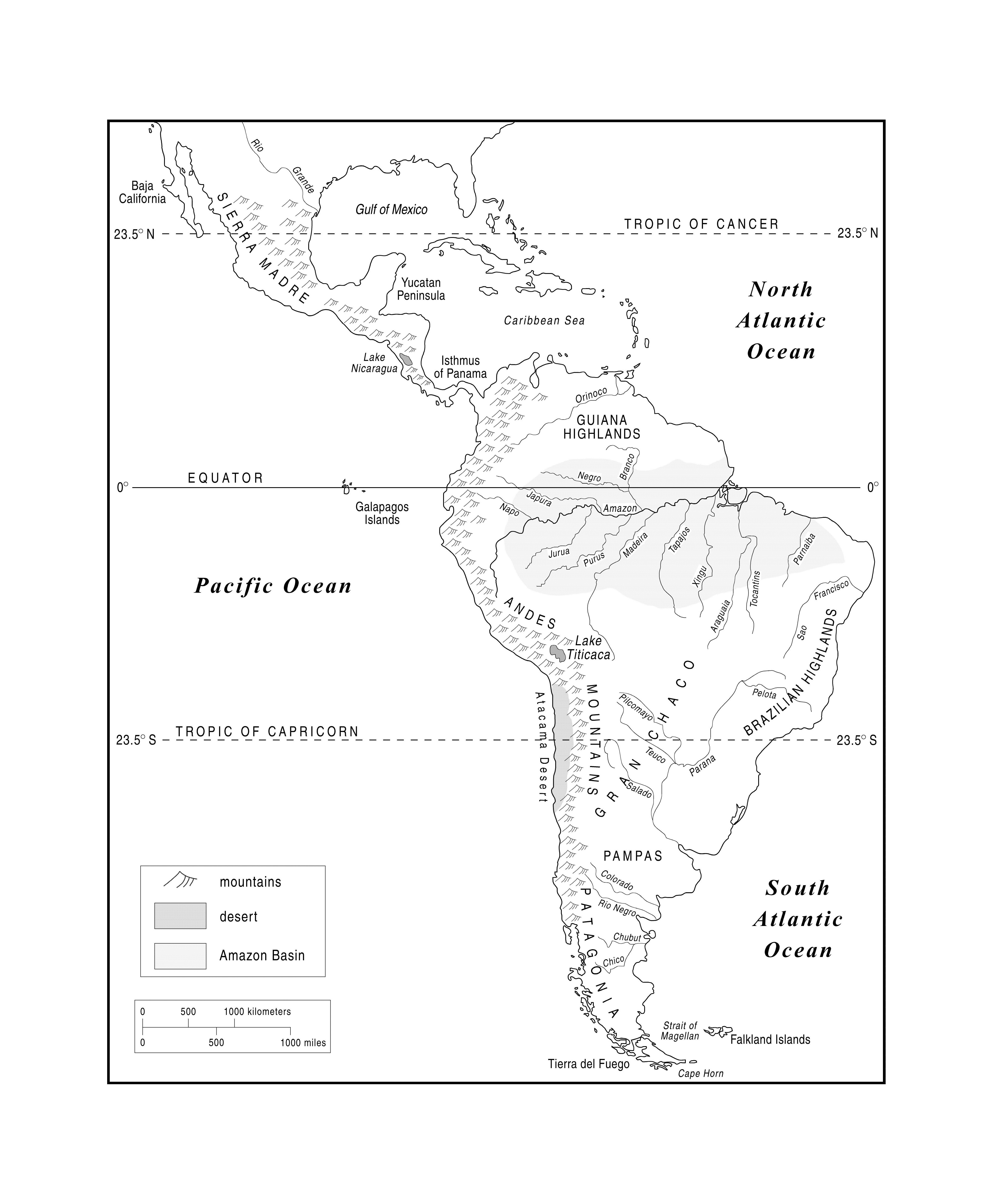 Blank Map Of The Western Hemisphere