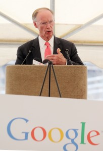 Alabama Gov. Robert Bentley speaks at the Google announcement. (Governor's Office, Jamie Martin)