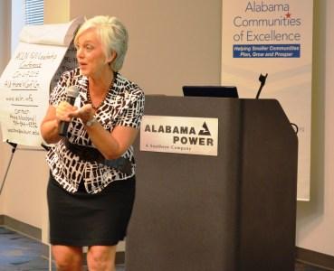 Yolanda Johnson talks about the economic impact of festivals. (Michael Tomberlin/Alabama NewsCenter)