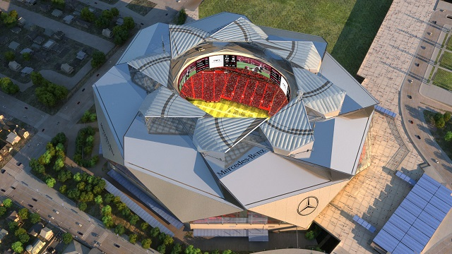 Mercedes won't exit Saints stadium pact with new Falcons deal