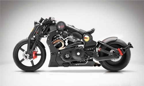 The Confederate Motors P 51 Combat Fighter motorcycle's black version retails for $119,500.