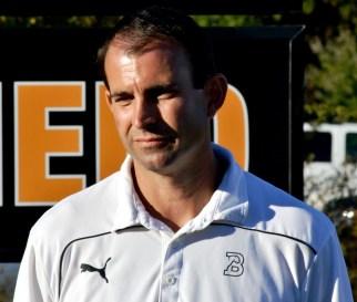 Assistant Coach Greg Vinson at the tribute to Preston Goldfarb. (Solomon Crenshaw Jr./Alabama NewsCenter)
