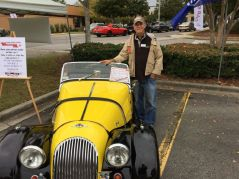 Bruce Bizzocco stands next to his 1963 Morgan.
