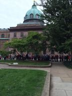 More long lines as crowds await their opportunity to see Pope Francis.