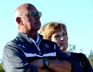 Preston Goldfarb with wife Marie Goldfarb. He is coaching his final season as Birmingham-Southern College men's soccer coach. (Solomon Crenshaw Jr./Alabama NewsCenter)