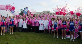 Infirmary Health celebrated its video winning the Pink Glove Dance competition. (contributed)