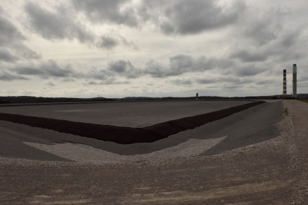 A new coal ash pond is under construction at an Alabama Power plant. (Christopher Jones/Alabama NewsCenter)