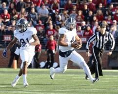 Georgia Southern quarterback Kevin Ellison scrambles. (contributed)