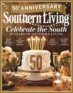 The February 2016 issue celebrates the 50th anniversary of Southern Living. (contributed)