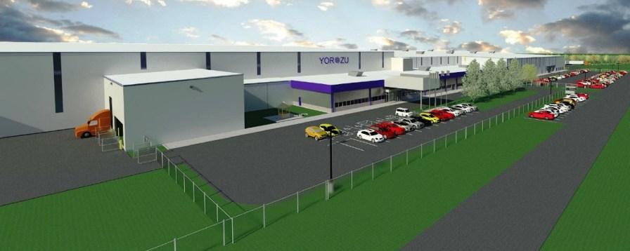 The future Yorozu Automotive Alabama Plant. (Hazama Ando Corp.)