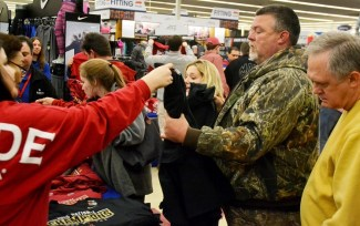 Shoppers make their way through Academy. (Solomon Crenshaw Jr./Alabama NewsCenter)