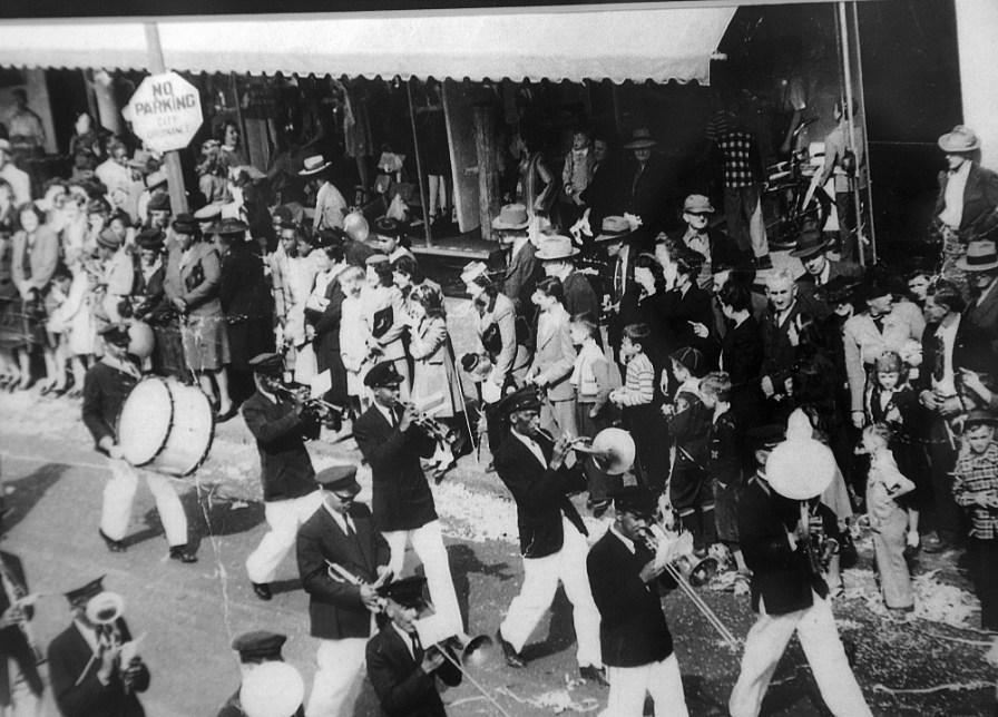 An undated photo of the Excelsior Band is displayed at the Mobile Carnival Museum. (Mobile Carnival Museum)