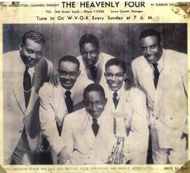 The Heavenly Four on WVOK-AM 690 from 1949. (contributed)
