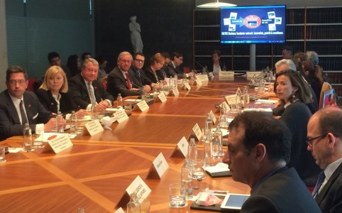 The Alabama delegation meets with officials in during their trade mission to Spain and Morocco. (contributed)