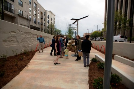 The public got it's first chance to check out the new Rotary Trail Wednesday. (Christopher Jones/Alabama NewsCenter)