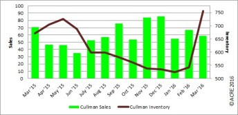 Year-to-date home sales were up 21.5 percent in Cullman during March compared to last year.