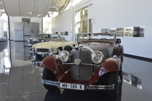 Mercedes-Benz's automotive history dates to 1886, so there are plenty of vintage models to show off at the company's visitors center at its Tuscaloosa plant. (Made in Alabama)