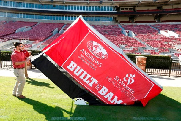 The University of Alabama last month was granted a patent for its SidelinER medical tent. (University of Alabama)