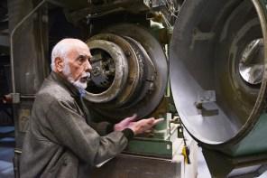 Dr. Frank Gravlee displays the equipment that produces his acclaimed products. (Karim Shamsi-Basha/Alabama NewsCenter)