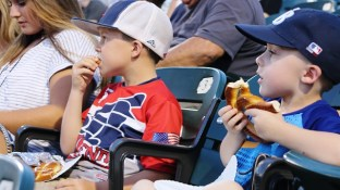 Children with nut allergies (and their parents) were able to enjoy Barons baseball worry free Wednesday night for the Birmingham Barons Peanut-Free Night. (Molly Vines/Alabama NewsCenter)