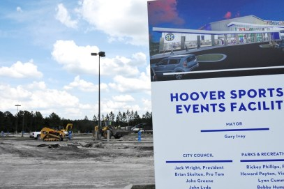 Work began this week on the Hoover Sports Events Facility near Hoover Metropolitan Stadium. (Solomon Crenshaw Jr./Alabama NewsCenter)
