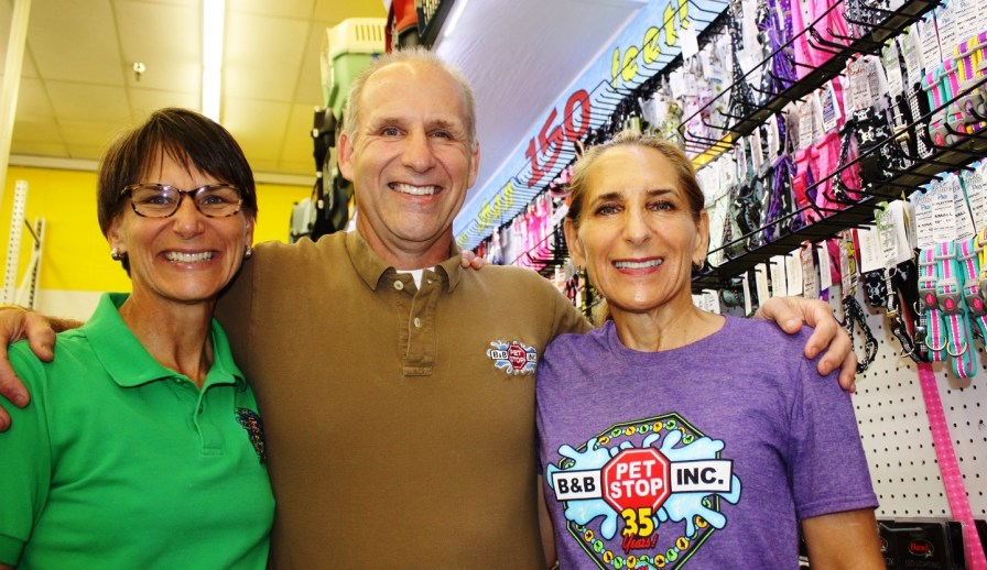 Mary, Bill and Sally Trufant have made B&B Pet Stop a Mobile mainstay for more than 35 years. (Robert DeWitt/Alabama NewsCenter)