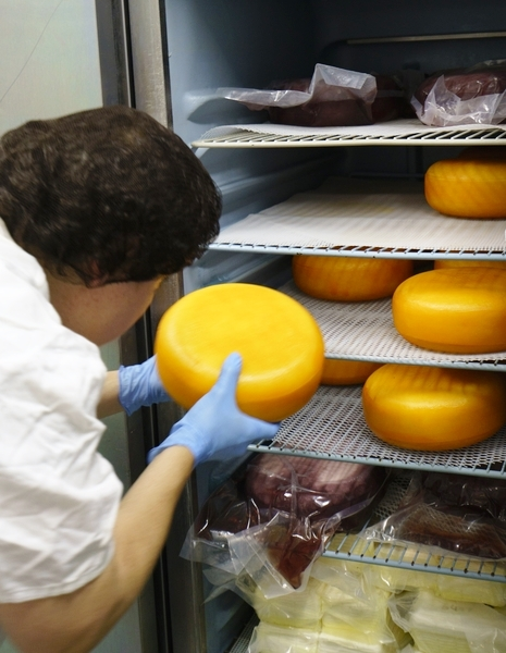 Ana Kelly is in charge of creating Dayspring Dairy's cheeses while her husband, Greg, cares for the sheep. (Mark Sandlin/Alabama NewsCenter)