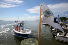 Anglers come to the weigh station during the 83rd annual Alabama Deep Sea Fishing Rodeo in Dauphin Island. (Mike Kittrell/Alabama NewsCenter)