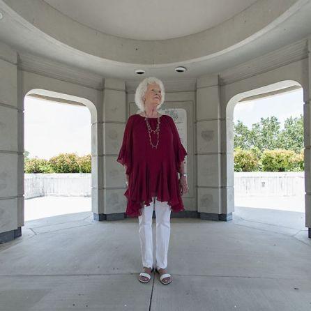 Betty Mize at Ola Lee Mize Patriots Park in Gadsden (Bernard Troncale/Alabama NewsCenter)