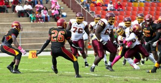 Jonah McCutcheon (26) was a first-team all-conference back last year. (Tuskegee Athletics)