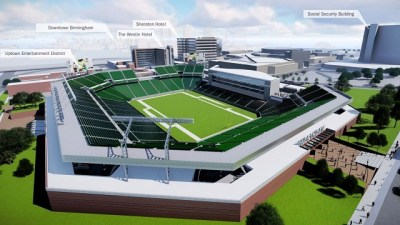 The open-air stadium is a major component in the latest master plan for the BJCC. (Populous)