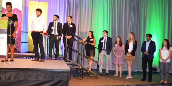 The Venture for America fellows currently working with Birmingham companies were introduced at the Alabama Innovation Awards. (Michael Tomberlin / Alabama NewsCenter)