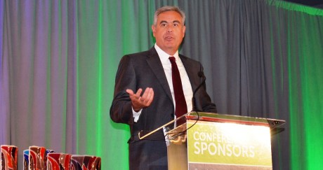 Mark Crosswhite, CEO of Alabama Power and Chairman of EDPA, welcomes the audience and honorees to the Alabama Innovation Awards. (Michael Tomberlin / Alabama NewsCenter)