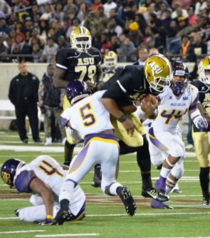 Junior safety Cedric Poole (5) is a big playmaker for the Golden Bears. (Miles College Football)