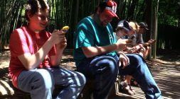 Pokemon Go enthusiasts at The Birmingham Zoo (Brittany Faush-Johnson/Alabama NewsCenter)