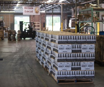 Beer is shipped from Back Forty Beer Co. in Gadsden throughout the state and around the world. (Bernard Troncale / Alabama NewsCenter)