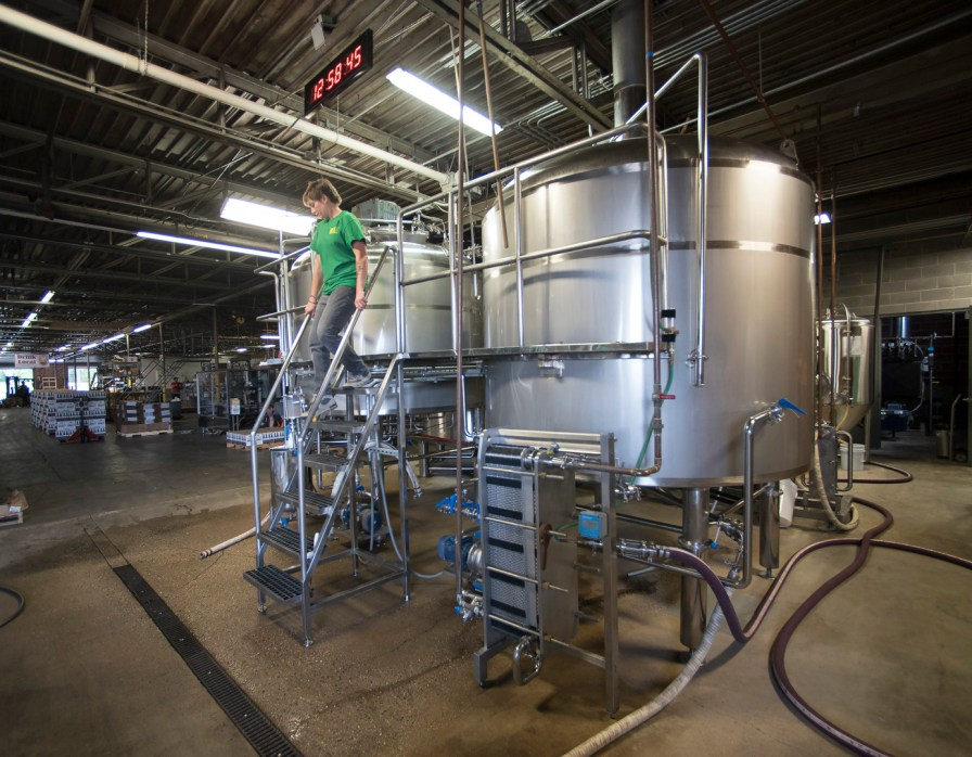 Brewer Jessica Moses at the Back Forty Beer Co. in Gadsden. (Bernard Troncale / Alabama NewsCenter)