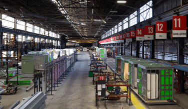 The BLOX manufacturing operation is based at the former Pullman Standard railcar plant in Bessemer. (BLOX)